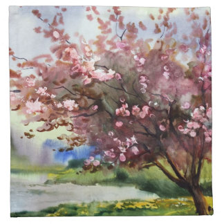 Watercolor Painting Landscape Napkin