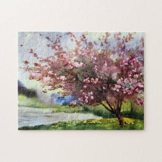 Watercolor Painting Landscape Puzzle