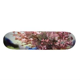 Watercolor Painting Landscape Skateboard Deck