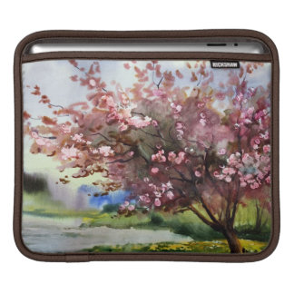 Watercolor Painting Landscape Sleeve For iPads