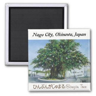 Watercolor painting Magnet Okinawa Banyan