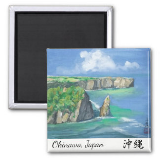Watercolor Painting Magnet Okinawa Shore
