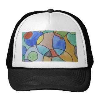Watercolor Painting of Colorful Circles Art Cap