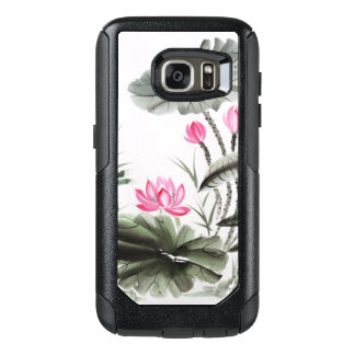 Watercolor Painting Of Lotus Flower 2 OtterBox Samsung Galaxy S7 Case