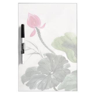 Watercolor Painting Of Lotus Flower Dry Erase Boards