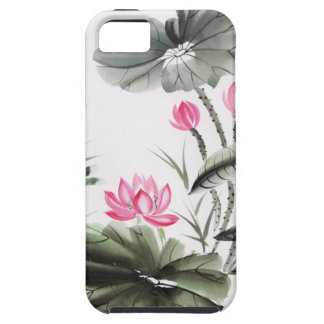 Watercolor Painting Of Lotus Flower iPhone 5 Cover