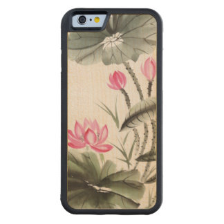 Watercolor Painting Of Lotus Flower Maple iPhone 6 Bumper Case