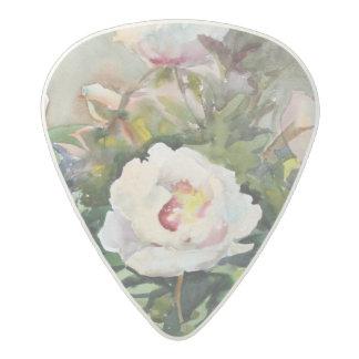 Watercolor Painting Of The Beautiful Flowers Acetal Guitar Pick