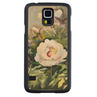 Watercolor Painting Of The Beautiful Flowers Carved Maple Galaxy S5 Case