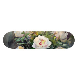 Watercolor Painting Of The Beautiful Flowers 21.6 Cm Skateboard Deck