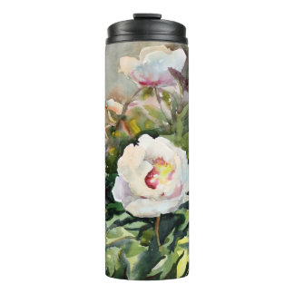 Watercolor Painting Of The Beautiful Flowers Thermal Tumbler