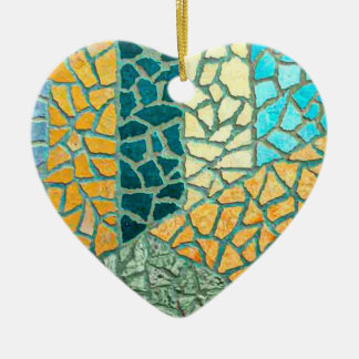 Watercolor Painting Stone Mosaic + your ideas Ceramic Heart Decoration