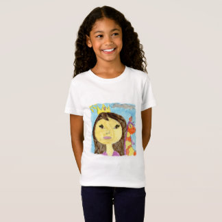 Watercolor Painting with Princess and Unicorn T-Shirt