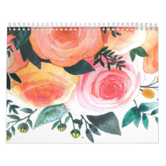 Watercolor Paintings Custom Calendar