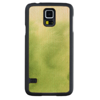 watercolor paints on a rough texture paper carved maple galaxy s5 case