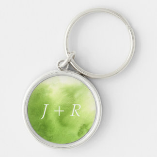 watercolor paints on a rough texture paper key ring
