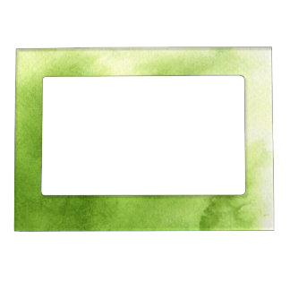 watercolor paints on a rough texture paper magnetic picture frame