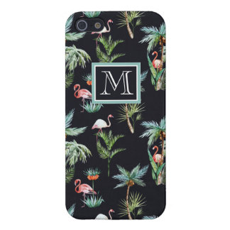 Watercolor Palm Pattern   Add Your Initial Cover For iPhone 5/5S