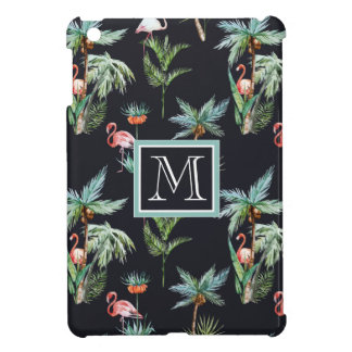 Watercolor Palm Pattern | Add Your Initial iPad Mini Case