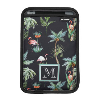 Watercolor Palm Pattern | Add Your Initial iPad Mini Sleeve