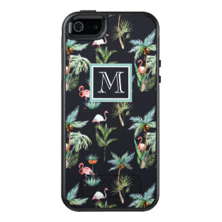 Watercolor Palm Pattern | Add Your Initial OtterBox iPhone 5/5s/SE Case