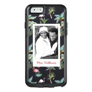 Watercolor Palm Pattern | Add Your Photo & Name OtterBox iPhone 6/6s Case