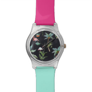 Watercolor Palm Pattern Watch