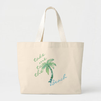 Watercolor Palm Tree Personalised Tote