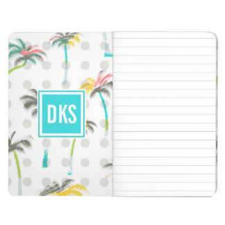Watercolor Palm Trees | Monogram Journal