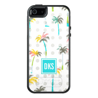Watercolor Palm Trees | Monogram OtterBox iPhone 5/5s/SE Case
