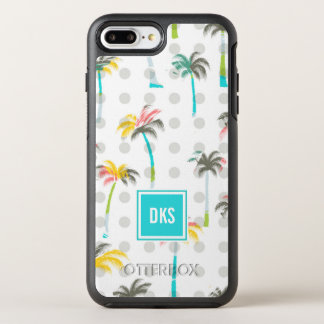 Watercolor Palm Trees | Monogram OtterBox Symmetry iPhone 7 Plus Case
