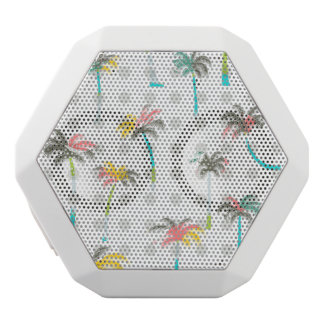 Watercolor Palm Trees White Bluetooth Speaker