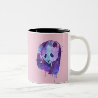 Watercolor Panda Bear Two-Tone Coffee Mug