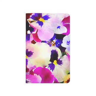 Watercolor Pansies Journal