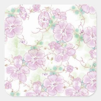 Watercolor Pansies, Sticker