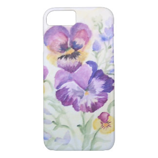 Watercolor pansy or viola iPhone 7 case