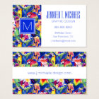 Watercolor Parrots   Add Your Name Business Card