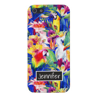 Watercolor Parrots | Add Your Name iPhone 5 Covers