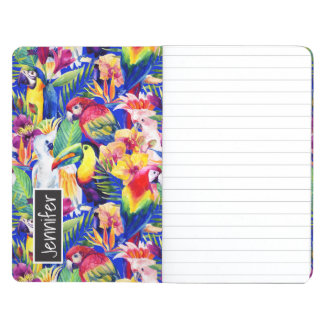Watercolor Parrots | Add Your Name Journals