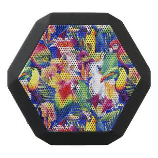 Watercolor Parrots Black Bluetooth Speaker