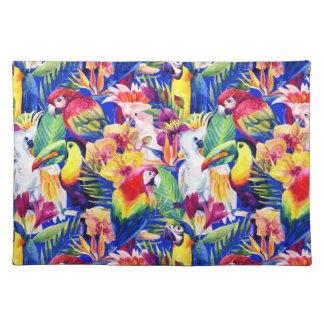 Watercolor Parrots Placemat
