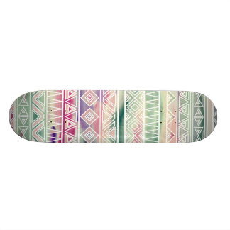 Watercolor Pastel Aztec Inspired Pattern 21.6 Cm Old School Skateboard Deck