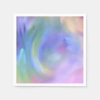 Watercolor Pastel Rainbow - All Options Disposable Serviettes