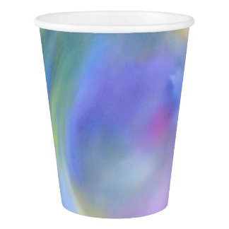 Watercolor Pastel Rainbow Paper Cup