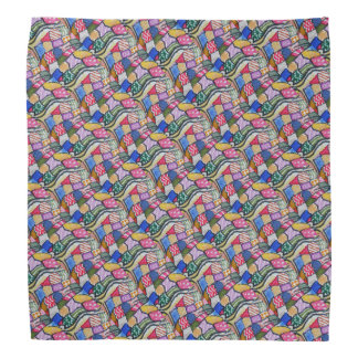 Watercolor Patchwork Patterned Do-rags