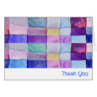 WATERCOLOR PATCHWORK TREE Folded Thank You Card