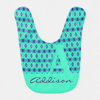 Watercolor Pattern IIII Bib