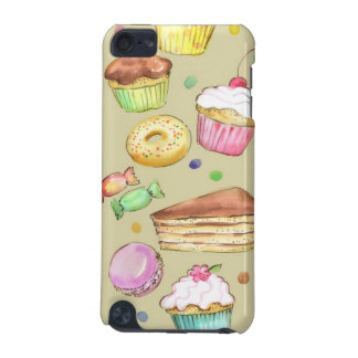 Watercolor pattern with sweets iPod touch (5th generation) cover