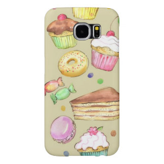 Watercolor pattern with sweets samsung galaxy s6 cases