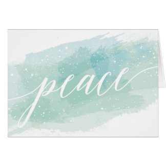 Watercolor Peace Holiday Greeting Card